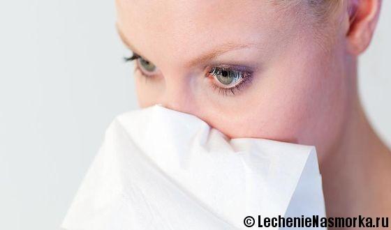 воспаление носовых углублений