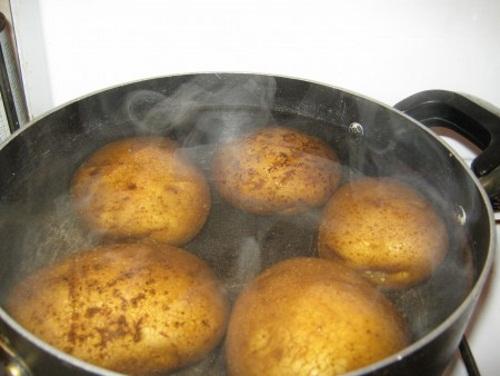 лечение насморка картошкой
